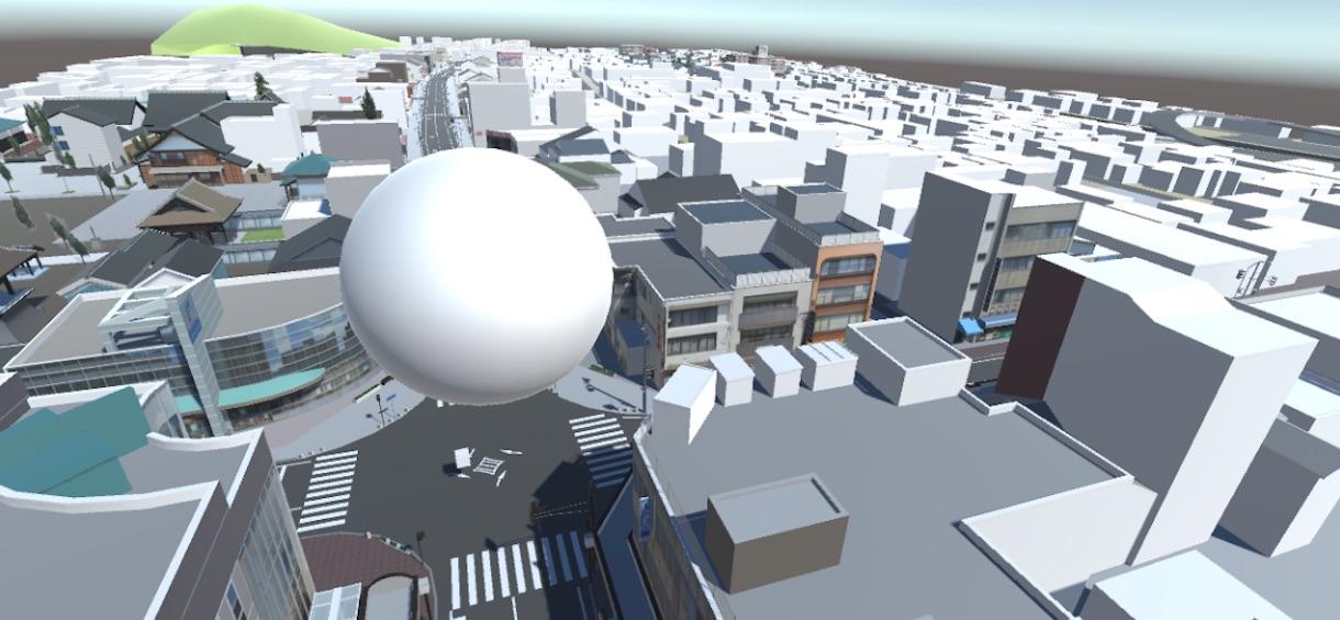 VRで鯖江上空を散歩するプログラムを3DオープンデータとUnityで